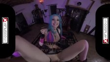 Lol Jinx Parody VR porn Alessa Riding A Hard Dick In The Dungeon VRCosplayX - duration 5:00