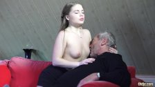 Old Young Porn Little Girl Fucked By Bald Grandpa in her wet perfect pussy - duration 7:04