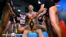 Tattooed Calisi Ink Sucks a Train of dicks German Goo Girls