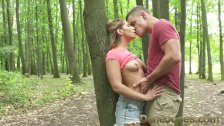 Dane Jones Outdoor fuck in public young lovers find perfect tree to fuck on - duration 10:23