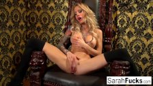 Sarah Jessie plays with her pussy - duration 7:37