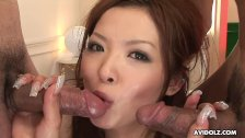 She moans as her soaking wet cunt gets blasted real hard