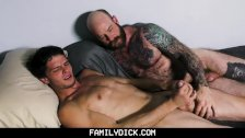 FamilyDick - Step dad and jock son fuck and suck each other on webcam - duration 8:34