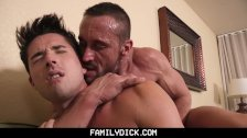 FamilyDick - Angry drunk muscle stepdad barebacks his pretty boy son - duration 8:24