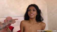 Ebony Nia Nacci Receives Multiple Facial Cumshot