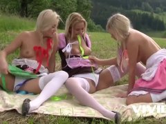 Bunch of Tiroler sluts go for a picnic but it doesnt end in just lunch