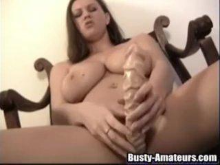 Busty Sara Shows Her Masturbation Skills