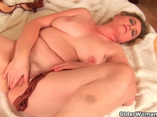 Granny With Big Breasts And Unshaven Pussy