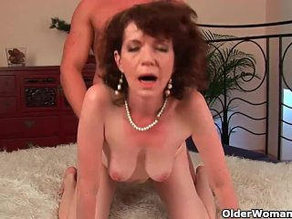 Mature Mother With Hairy Muff And Hamstrings Fucks