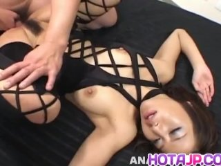 Tsubasa Okina Naughty Asian Milf In Black