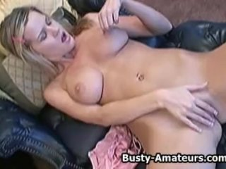 Busty Lisa Masturbates Her Pussy With Toys