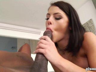 Beautiful Brunette Milf Loves Big Black Cock