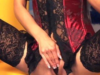Victoria Masturbates In Stockings And Heels