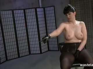 Helpless Slave In Hot Wax Covered By Mistress
