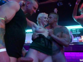 Naughty Beauties Fucked In Public On Party
