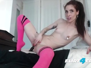 Petite Fetish Camgirl Pinches Her Nipples And Rides A Bbc Dildo