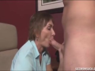Matute Lady Sucks A Huge Cock