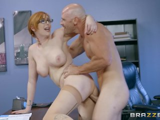 Naughty Ginger Bimbo Gets At Work - Brazzers