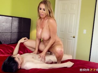 Asian Milf Finds Big Dick In Bed - Brazzers