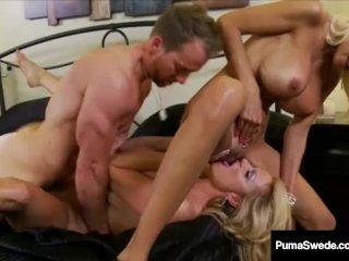 Busty Babe Puma Swede & Amp; Kelly Madison Fucking Husband In 3 Ways!