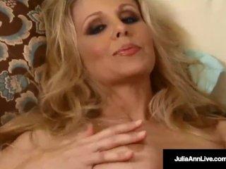 Mega Milf Julia Ann Strips & Amp; Bangs Her Pussy Until She Squirts!