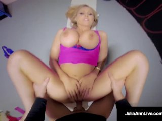 Big Busty Milf Julia Ann Is Fucked By A Young Stallion In The Gym!