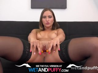 Wetandpuffy - Naomi Bennet Teases Her Juicy Wet Pussy With A Big Dildo