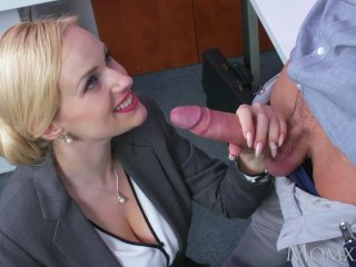 Mom Blonde Big Tits Milf Sucks Massive Geek Cock Before Hard Fuck