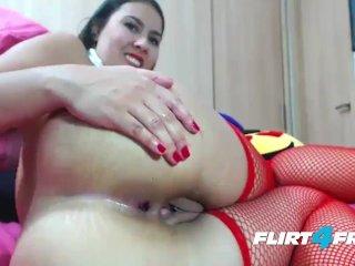 Sexy Schoolgirl Uniform Wearing Kaome Sky Double Penetrates Her Sweet Hole