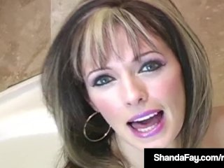 Canadian Cougar Shanda Fay Gets Her Holes Filled By Husband!