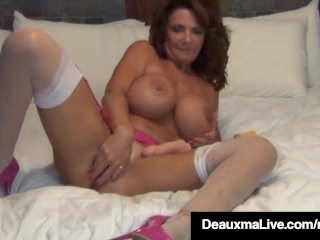 Busty Milf Deauxma Uses 4 Inch Anal Plug & Amp; Dildo To Inject!