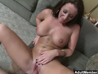 Adultmemberzone - A Buxom Lady Gets A Big Load On Her Melons