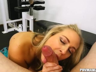 Busty Blonde Milf Angel Allwood Suger En Stor