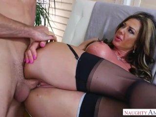 Mum Nina Dolci In Stockings
