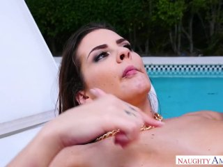 Keisha Gray Does Anal Next To The Pool