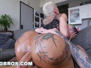 Bangbros - Big Booty Pornstar Bella Bellz Fait L'anal Pour Son Retour