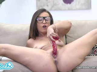 Kelsi Monroe Big Ass Brunette Masturbating With Several Toys.