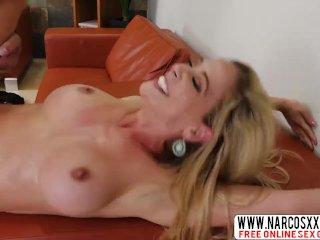 Blonde Busty Mother Cherie Deville Gets Creampie Hard