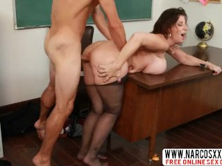 Do Not Hurt Mother Sara Jay In Stockings Gets Hardcore Sex