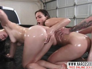 Not Chubby Mother Natasha Nice And Tiff Star In Threesome