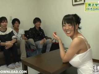 Three Guys Playing With Busty Asians With Real Huge Breasts