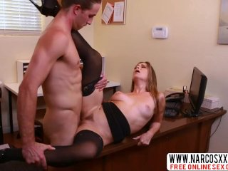 Scary Stepmom Cassidy Small In Stockings Wants Hardcore Cock