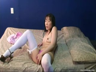 Adorable Asian Mother Has Dressed Up For The Webcam Masturbation
