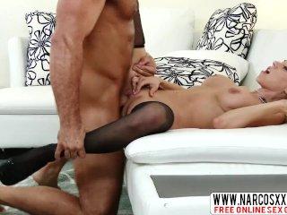American Stepmom Katie Morgan In Stockings Wants Big Cock