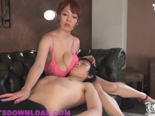 Busty Asian Girl With Huge Tits In Pink Lingerie