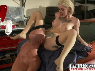Grumpy Not Mother Kleio Valentien In Stockings Loves To Fuck Slowly