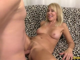 Mature Blonde Shows Her Pussy And Fucks