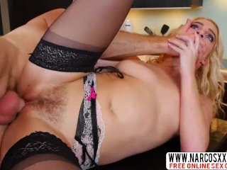 Calm Mother In Law Cadence Lux In Stockings Wants Hardcore Cock