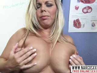Sensitive Not Mother Amber Brook In Stockings Wants Slower Sex