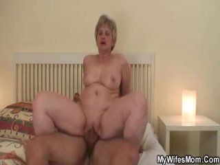 Daughter Finds Her Old Mother Riding Cock